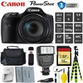 Canon HS Digital Point and Shoot 20MP Camera + Extra Battery + Digital Flash + Camera Case + 16GB Class 10 Memory Card + 1 Year Extended Warranty (Total Of 2YR) - Intl Model