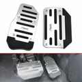 LNGOOR Universal Non Slip Automatic Gas Brake Foot Pedal Pad Cover Car Accessories for Car Auto Vehicle Motorcycle Aluminium-2pc/Set