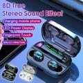 2020 Newest 8D Surround Sound TWS Earphones Wireless Bluetooth 5.0 Stereo Earbuds Sport Waterproof Headphones Touch Control Dual Headsets Mini Earbuds with 3500mAh LED Display Chagring Box