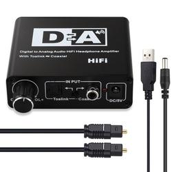 DAC Digital Optical Coaxial to Analog 3.5mm AUX and RCA R/L Audio Converter Digital SPDIF Toslink to Analog Audio HiFi Converter Adapter for PS3 XBox HD DVD PS4 Home Cinema Systems