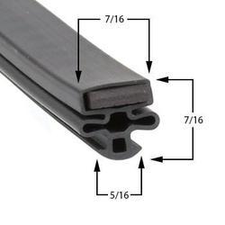 Leer Compatible 301UA25MG Door Gasket Part# (1490007)