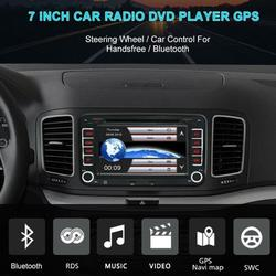 For VW Jetta Passat Eos Golf Android 8.1 2 Din Car Stereo DVD Player Radio WiFi GPS Navigation 7'' 1GB+16GB Bluetooth FM, Rear View Touch Screen IOS/Android Phone Mirror Link