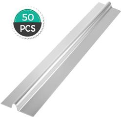 VEVOR PEX Heat Transfer Plates 50/Box Radiant Heat Transfer Plates 4Ft PEX Aluminum Heat Transfer Plates 1/2Inch Heat Transfer Plates for PEX Tubing