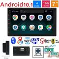 Double Din Android Car Navigation Stereo 7 Inch Android 10.1 16G Car Entertainment Multimedia Radio in-Dash Car Universal Multimedia Video Player Support WiFi DVR USB FM Rear View Car