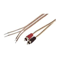 iec 18 awg 6' speaker wire pair with rca males - black/red