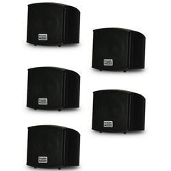 Acoustic Audio AA321B Mountable Indoor Black Speakers 1000 Watts 5 Piece Set