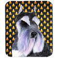 Schnauzer Candy Corn Halloween Portrait Mouse Pad, Hot Pad Or Trivet
