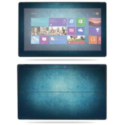 """MightySkins Skin Compatible With Microsoft Surface RT Tablet 10.6"""" screen wrap sticker skins Black Leather"""