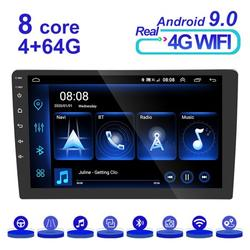Split screen Android 9.0 Car Radio Multimedia Video Player Navigation GPS Android 9.0 No 2din 2 din dvd , with 12 LED Camera