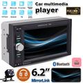 """""""6.2"""""""" Universal 2 din Car Multimedia Player Car intelligent system Audio Stereo Radio Touch Screen Video MP5 Player car audio Support Bluetooth TF USB FM ,with 4led Rear View Camera"""""""
