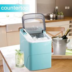 Countertop Ice Maker Machine, Portable Compact Automatic Ice Maker with Scoop and Basket, Perfect for Home/Kitchen/Office/Bar Mixed Drinks