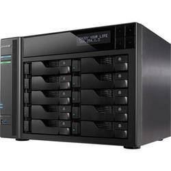 Asustor AS6210T 10-Bay NAS, Intel Celeron Quad-Core, 4 GB SO-DIMM DDR3L, GbE x 4, PCI-E (10GbE ready), USB 3.0 & eSATA, WoL, System Sleep Mode, AES-NI hardware encryption,with lockable tray