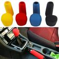 SPRING PARK Car Gear Shift Knob Cover and Handbrake Cover Set, Durable Auto Protective Cover Car Accessiores Universal fit Vehicle Lorry Car Black