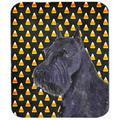 Schnauzer Giant Candy Corn Halloween Portrait Mouse Pad, Hot Pad or Trivet