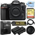 Nikon D500 20.9MP 4K WiFi DSLR Camera (Body Only) + Extra Battery + Sandisk 32GB SD Bundle