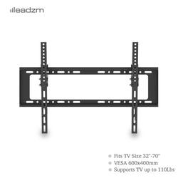 TV Wall Mounts for Flat Screens, Full Motion TV Wall Mount with Spirit Level for Most 32-70 Inch Flat TV, 0.98'' TV to Wall, Upper And Lower 0-10°, TV Mount for Meeting Room, Classroom, 110 lbs, A160