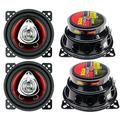"""""""4) New CH4220 4"""""""" 2-Way 400W Car Audio Coaxial Speakers Stereo Red 4 Ohm, Brand New 2 Pairs of BOSS 4"""""""" 2-Way Boss Car Speakers By BOSS"""""""