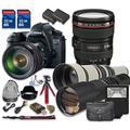 Canon EOS 6D Digital SLR Camera with Canon EF 24-105mm f/4L IS USM Lens + 500mm f/8 Telephoto T-Mount Lens + 650-1300mm f/8-16 T-Mount Lens - International Model