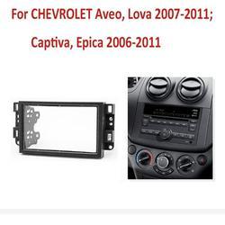 Xelparuc 2 Din car radio Fascia For Chevrolet Aveo Lova Captiva Gentra Radio Stereo Panel Dash Mounting Installation Trim Kit Frame Bezel
