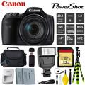 Canon HS Digital Point and Shoot 20MP Camera + Extra Battery + Digital Flash + Camera Case + 32GB Class 10 Memory Card - Intl Model