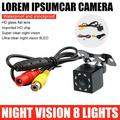 Amerteer Car Rear View Camera Reverse Camera High Definition Camera 170°CCD Wide Angle Waterproof Night Vision Car Rear View Parking Cam-8 LED