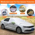 Car Windshield Sun Snow Cover for Car, Car Windshield Cover for Ice and Snow Waterproof Protector All Weather Winter Summer Auto Sun Shade for Car, SUV, Truck, Van or Automobile
