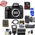 Nikon D610 Digital SLR Camera Body with 64GB Card Sling Case + Flash + Grip + Battery & Charger + Remote Kit
