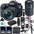 Canon EOS 7D Mark II DSLR Camera (International Version) with 18-135mm f/3.5-5.6 IS USM Lens & W-E1 Wi-Fi Adapter 9128B135 + Canon EF-S 55-250mm Lens + LP-E6 Lithium Ion Battery + Carrying Case Bundle