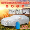 Universal Car Cover, Waterproof SUV Car Covers All Weather UV Protection Windproof Snow-Proof Dust-Proof Scratch Resistant Universal Full Car Cover Fit Most Cars & SUV, 3L / 3XL / 3XXL
