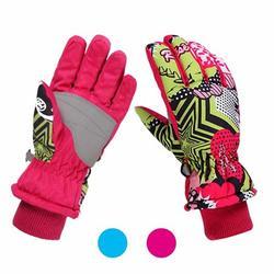 Barka Ave Kids Ski Gloves Winter Warm Lining Windproof Waterproof Gloves for Ski Snowboarding Biking Riding, S M L fit 3 to 12 Years