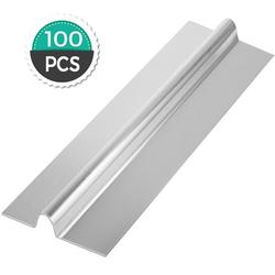 VEVOR PEX Heat Transfer Plates 100/Box Radiant Heat Transfer Plates 2Ft PEX Aluminum Heat Transfer Plates 1/2Inch Heat Transfer Plates for PEX Tubing