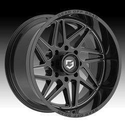 Gear Off Road 761BM Ratio Gloss Black Milled 20x10 8x180 -19mm (761BM-2108919)