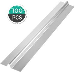 VEVOR PEX Heat Transfer Plates 100/Box Radiant Heat Transfer Plates 4Ft PEX Aluminum Heat Transfer Plates 1/2Inch Heat Transfer Plates for PEX Tubing
