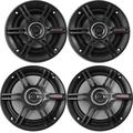 """""""Car Speaker Bundle: 2 x Crunch 5.25"""""""" 2-Way 250W Peak Power Coaxial Full Range Automotive Speakers + 2 x Crunch 6.5"""""""" Full Range 3-Way 300W Peak Shallow Mount Black Car Speakers"""""""