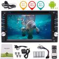 6.2 inch Car radio Support 1080P Video Phone mirroring Wifi USB/SD OBD2 Quad Core Android 6.0 Car DVD Player Double Din Car Stereo with GPS Navigation (Dual satellite positioning)2 din Audio System