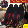 9Pcs/4Pcs Universal Car Seat Covers Full Set Waterproof Car Seat Protector Cushions Front Rear Car Seat Covers Car Accessories Four Seasons Fit for Auto Truck Van SUV