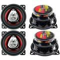 """""""BOSS CH4220 4"""""""" 2-Way 400W Car Audio Coaxial Speakers Stereo Red 4 Ohm, Brand New 2 Pairs of BOSS 4� 2-Way Boss Car Speakers By Brand BOSS Audio Systems"""""""