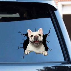 6 Pcs Cute Decal,3D Dog Car Window and Bumper Sticker,Dog Crack Car Sticker,car Window Decal,Dog Sticker Sticker Cars Crack Decal for Walls, Cars, Toilet and More
