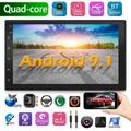 2DIN 7'' Android 9.1 Car Radio Stereo GPS Navigation Wifi OBD Mirror Link