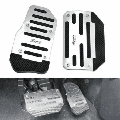 LNKOO Non-Slip Car Brake Accelerator Gas Pedals Pads Covers Foot Brake Extenders Cover Pad Automatic Automotive Kick Panels for Car Auto Vehicle Motorcycle Aluminium-2pc/Set