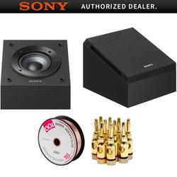 Sony Dolby Atmos Enabled Speakers Pair 2018 Model (SS-CSE) with Monoprice Select Series 16 AWG Speaker Wire 100ft & High-Quality Brass Speaker Banana Plugs, 5-Pair, Open Screw Type