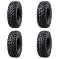 (4 Pack) Tusk Terrabite® Radial Tire 25x10-12 Medium/Hard Terrain - Fits: CAN-AM Maverick Trail 1000 2018-2021