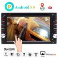 Android 10.0 Car Navigation Stereo with Bluetooth Double din Car Radio in Dash Car DVD Player 2 din GPS Sat System Wifi Mirrorlink Support USB SD 1080P Colorful Button Lights New UIs External Mic