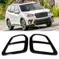 OTVIAP ABS Front Fog Light Frame Cover Trim Black Fits for Subaru Forester SK 2019,Car Lamp Trim Cover, Front Fog Light Cover