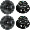 """""""4) Pyle Pro PDMR5 5"""""""" 800W Car DJ/Home Mid Bass MidRange Speakers Drivers Audio, New Pyle PDMR5 5 800W High Performance Mid Bass Mid Range Woofer Driver (4.., By Visit the Pyle Store"""""""
