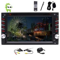 Wireless Rear View Camera Android 6.0 OS 6.2 Inch Car Stereo GPS Navigation Capacitive Touch Screen Car DVD Player FM/AM RDS Radio HD 1080P Video Media Player WIFI 4G Bluetooth