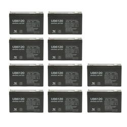 UPG 6V 12Ah F2 Replacement Battery for SLA Multi-Purposes Battery - 10 Pack
