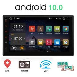 Android 10.0 Car Stereo 7 Inch 2 Din GPS Navigation with Touch Screen Double Din Car Radio Head Unit 2 Din Car Video Player NO-DVD In Dash AutoRadio support Bluetooth USB SD WiFi Phone Mirroring