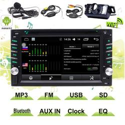 """""""6.2"""""""" Double DIN In-Dash Head Unit 2 Din Car Autoradio Android Stereo Touch Screen TFT/LCD Monitor w/DVD/CD/MP3/MP4/USB/SD/AM/FM/BT & Built-In GPS/External MIC/Remote Control/Wireless Rearview Camera"""""""