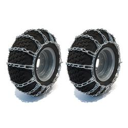 New PAIR 2 Link TIRE CHAINS 15x6.00x6 for John Deere Lawn Mower Tractor Rider by The ROP Shop